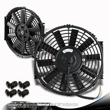 """Black 12"""" High Performance Electric Cooling Pull Slim Radiator Fan For MAZDA"""