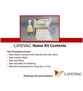 LIfeVac Home Kit Chocking Rescue Device for Children and Adults New 2021 stock