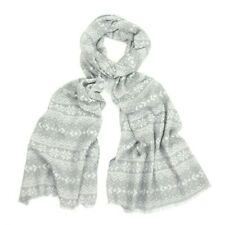 New Grey & White Large and soft, worn as a scarf or wrap Nordic  Design