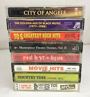 Lot of 8 RARE Compilation Cassette Tapes ~ Rock, Pop, TV, Movie