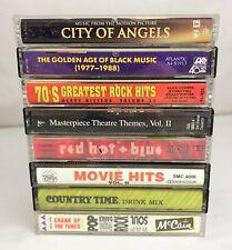 Lot of 8 RARE Compilation Cassette Tapes ~ Rock, Pop, TV, Movie