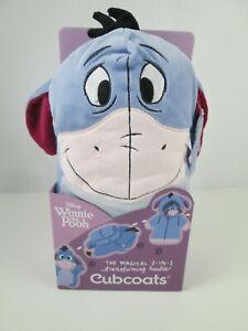 Disney Eeyore Cubcoat for Kids 2 in 1 Magical Transforming Hoodie Sz 8 NEW
