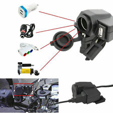 ADATTATORE 12V MOTO USB PRESA ACCENDISIGARI IMPERMEABILE PER CARICABATTERIE NERO