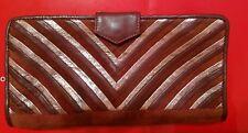 Aldo Grape, Purple, Matalic, Suede Clutch 70's style vintage purse