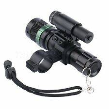 Red Laser Sight Scope Adjustable Zoom Cree LED Torch Flashlight for Hunting Gun