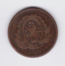 1837 Province Du Bas Canada One Penny Bank Token Deux Sous Concordia Salus W-981