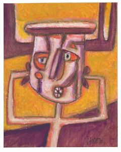 I CAN'T HEAR YOU original abstract/folk/outsider? Canadian painting J.Swinton NR