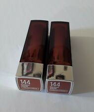 MAYBELLINE  SENSATIONAL CREAM LIPSTICK #144 Naked Dare Nude Shade lot of 2