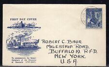 Australia Newcastle FDC to US 1947 L3