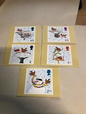 Royal Mail Stamp Post Cards PHQ 236 Christmas 2001 Set