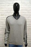 Maglione Uomo UMM Pullover Mann Grigio Taglia XL Sweater Man Grey Cardigan Felpa