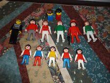 1974 - 1981 Geobra Playmobil Collectible 13 Toys Lot Esso Man - Lego Policeman