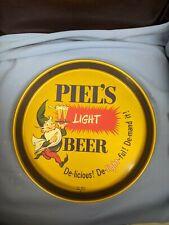 Vintage Piels Light Beer Piel Bros. Brooklyn Ny Tin Litho Advertising Beer Tray