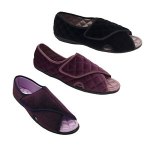 Ladies Slippers Grosby Madge Slipper Adjustable Quilted Lining Sizes AU 5-11 NEW