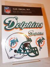 MIAMI DOLPHINS NEW Car Decal Kit Official NFL 9 Decals Helmet Logo Stickers