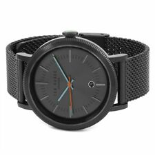 New! Ted Baker Gent Connor Black Stainless Steel Strap TE15062009 Mens Watch