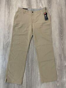 NEW NWT Under Armour UA Golf Match Play Khaki Men's Pants Size 34x30