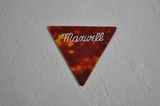 Vintage Maxwell Tortoise Shell Triangle Pick #357 1950's Celluloid Guitar Picks