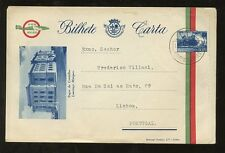 PORTUGUESE EAST AFRICA STATIONERY LETTERCARD AIRMAIL 1940s MOZAMBIQUE