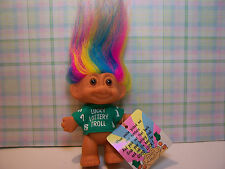 "LUCKY LOTTERY TROLL - 3"""" Russ Troll Doll - NEW IN ORIGINAL WRAPPER"