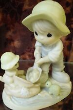 """Precious Moments #603864 """"Nothing Can Dampan The Spirit Of Caring """"-Boy/Pup-NEW"""