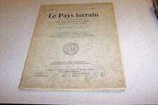 LE PAYS LORRAIN 1933 VOL 25 N° 9  La Faculte des Lettres de Nancy Paul Colin