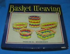 VTG 1930 UNUSED ART DECO CARDBOARD BASKET WEAVING KIT - EASTER, MAY BASKETS