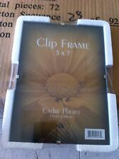 "6 pcs New 8x10"" Clip Picture Frames $15 Ship Frameless Polished Glass Photo"