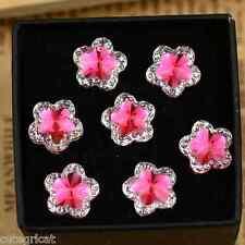 25pcs - Spectacular PINK Flower Flatbacks 12mm = Lots of Bling
