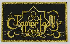 Tamerlan Empire logo patch metallic gold thread middle eastern black metal