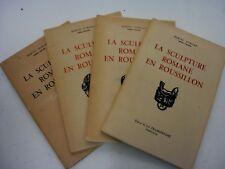LA SCULPTURE ROMANE EN ROUSSILLON - MARCEL DURLIAT - 1954-1959 - 4 volumes