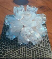Magnifique Bague LALIQUE cristal Vintage muguet Modèle rare  !!