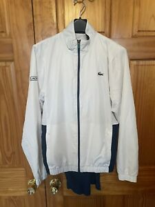 Men's Lacoste Sport Tracksuit White/blue Navy Size 3 Small