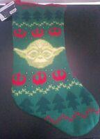 STAR WARS STOCKING Yoda Christmas Decor Green & Red Holiday
