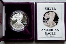 1988-S PROOF AMERICAN SILVER EAGLE 1 Oz BULLION COIN, OGP/COA