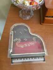Piano shape jewelry musical singing antique gorgeous box