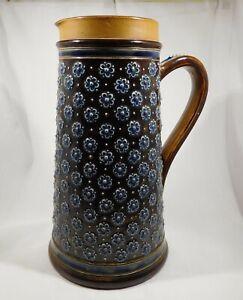 Antique Doulton Lambeth large jug c 1876 Elizabeth Atkins U.K. (Fault)