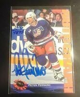 1994-95 Classic Hockey Autograph AUTO Peter Ferraro Tem USA #d/4875