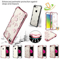 Samsung GALAXY J7 2018 Clear Bling Hybrid Shock Rubber Silicone TPU Case Cover