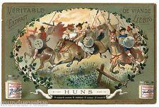 CHROMO. LIEBIG. CAVALIERS DE L'ANTIQUITé. CAVALERY. HUNS . S 763 . 1904