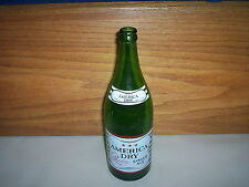 """Vintage American Dry Quality Ginger Ale 30oz Soda Pop Bottle (11 1/2"""" Tall)"""