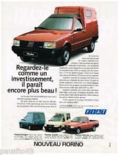 PUBLICITE ADVERTISING 095  1988   FIAT le nouveau FIORINO  combi pick-up fourgon