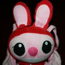 """9"""" Disney Angel Easter Plush Lilo Stitch Red Bunny Ears Hat Pink Heart Valentine"""