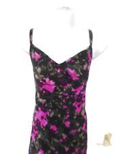 ❤ Size 8 Black Purple Brown Devore Velvet Feel Long Occasion Dress Lined