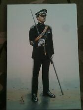 Military Postcard Sergeant Major 17th 21st Lancers 1991 by Alix Baker