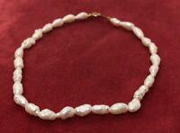 "14k Gold Estate Vintage Bracelet Freshwater Rice Pearls Strand 7""  154 2.8 Grams"