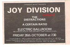 "JOY DIVISION UK TIMELINE Advert - Electric Ballroom,London Fri 26 Oct 1979 2x3"""