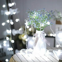 50LED 5M/16.5ft String Fairy Light Round Blubs Wedding Party Garden Decor Lamp