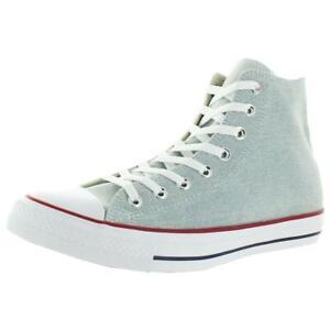 Converse Mens CTAS Hi Blue Canvas High Top Sneakers Shoes 9 Medium (D) BHFO 4015