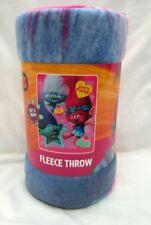 """Trolls Poppy,Branch,& Guy Diamond 45"""" x 60"""" Micro Raschel Throw Blanket-New!"""